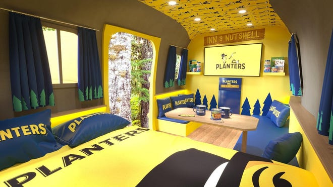Inside the revamped Planters Nutmobile.
