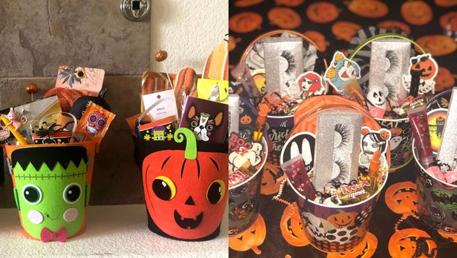 Spooky baskets, boo baskets, boo buckets—whatever you call them—are the latest Halloween trend.