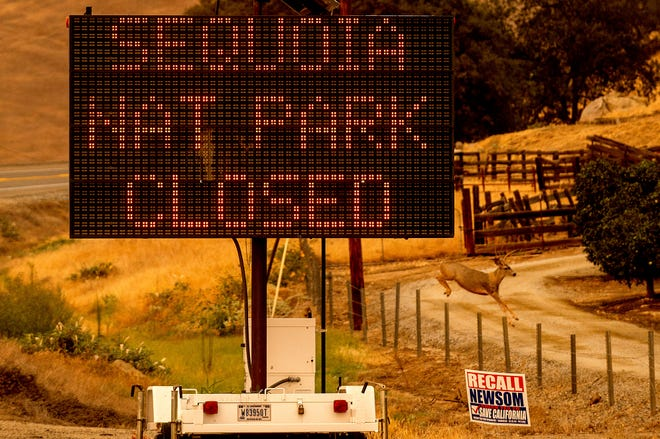 Fires near Sequoia National Park a potential threat