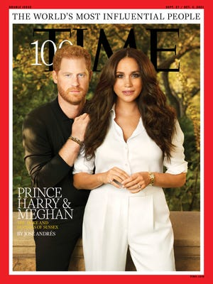 Prince Harry and Duchess Meghan made Time's annual list of 100 most influential people in the world.