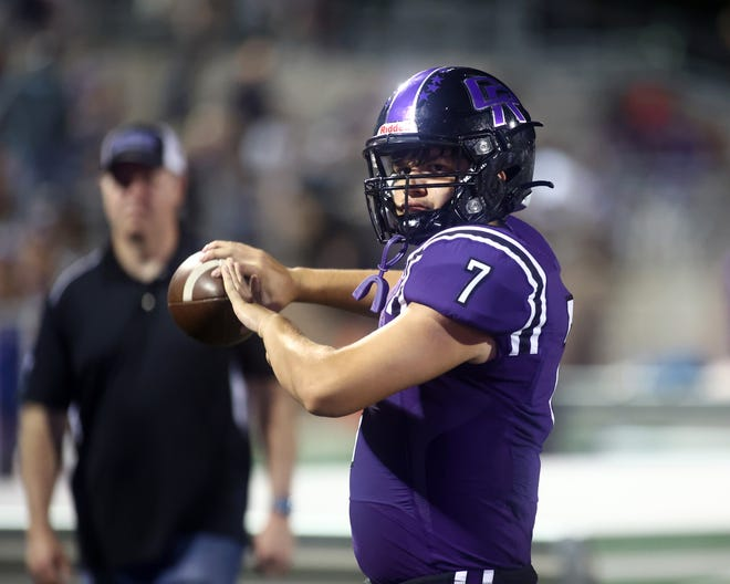 Junior Aidan Liston will lead Cedar Ridge into a District 25-6A opener against Round Rock on Friday. Liston threw for 234 yards and five TDs in a 48-13 win over Hays last week.