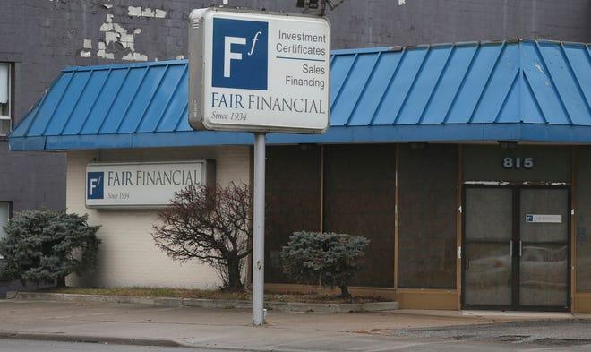 The Fair Finance building stood vacant on East Market Street in Akron after an FBI raid.