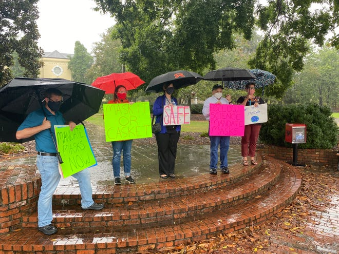 Faculty at Augusta University have been holding protests to demand the University System of Georgia implement a mask mandate.