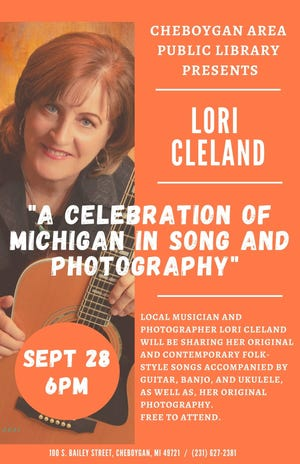Lori Cleland, from Cheboygan, will be presenting at the Cheboygan Area Public Library Sept. 28