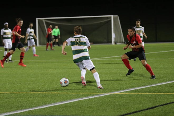 Keuka College defeated Wells College 5-1Wednesday, Sept. 15 at home. Keuka's No. 12, Sean Malley (Webster Thomas) scored 2 goals. Also scoring were: Seth Spurgeon (Chittenango) - 1 goal, 1 assist; Thomas Callery (Hilton) - 1 goal, 1 assist; and Owen Thorpe (Horseheads) - 1 goal.