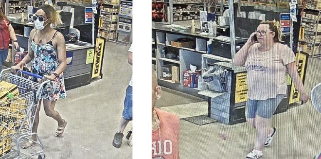 Here are surveillance video photos of two women suspected of stealing Dewalt tools valued at more than $2,300 on Sept. 8 from the Lowe's store in Dublin. Central Ohio Crime Stoppers is offering a reward for information leading to their arrests.