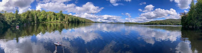 This panoramic view of Cranberry Lake in upper New York helps explain the beauty of the Adirondacks and why the Holden boys keep going back to fish its waters each fall.