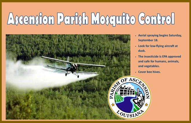 Ascension Parish begins aerial mosquito control.