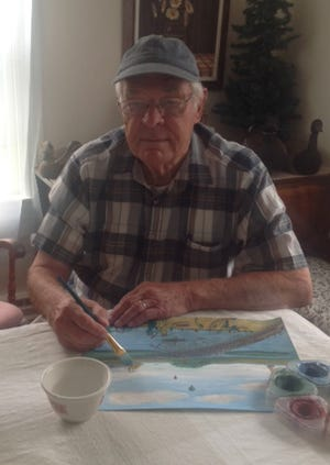 Folk artist Jim Parker Sr. researches and paints watercolors of historic sites in both New England and the Mohawk Valley. Some of his works were recently featured in Cape Cod Life magazine.