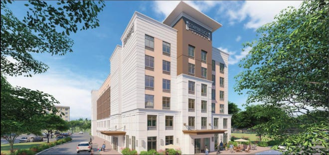 A rendering of the Staybridge Suites that will come to 5th Street in downtown Winter Haven by summer 2023.