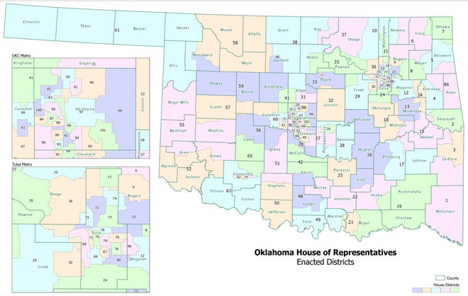 State lawmakers will have to redraw proposed legislative districts, including the proposed House districts shown here.