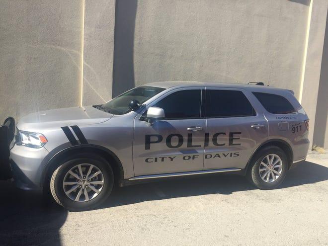 A police vehicle from Davis, Oklahoma.