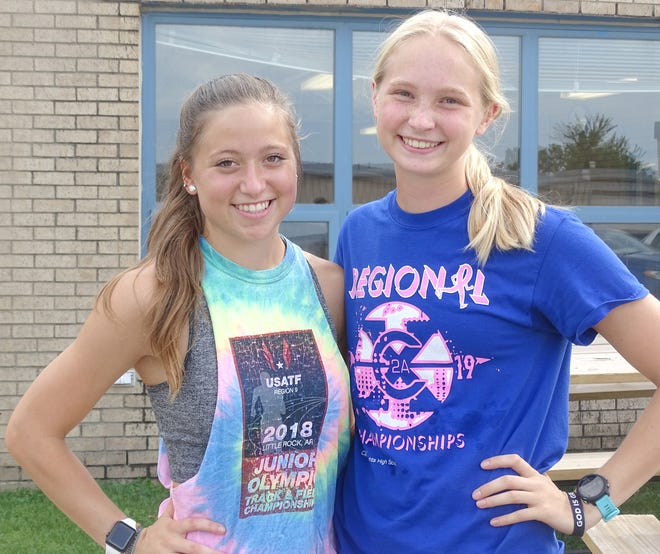Central Heights seniors Taryn Compton and Lily Meyer have been leaders and the backbone of the cross country program for seven seasons.