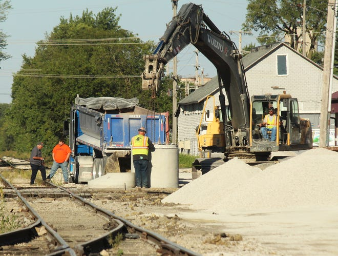 Work continues along Second Street near the TP&W tracks just south of the Fairbury City Hall. The Fairbury City Council received an update on the project at Wednesday's meeting.
