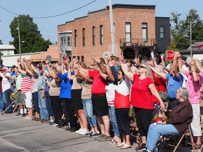 The event was well attended by every facet of the community, coming together to remember lives lost on 9-11-01 and the life of Spencer's own Brett Wood.