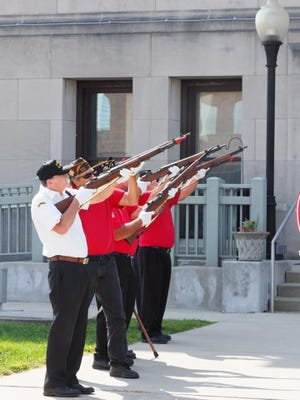 A gun salute marks the occasion.