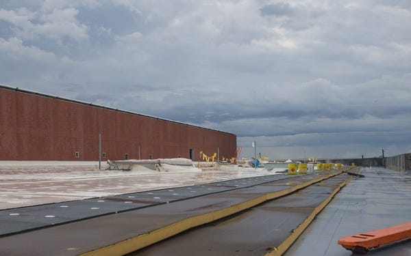 There will be three F-35 hangars built by 2028.
