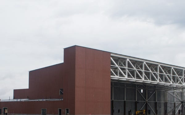 The first F-35 hangar will be complete in 2022.