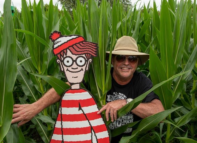 Davis Mega Maze co-owner Larry Davis in this year's Where's Waldo-themed maze, which opens Oct. 2