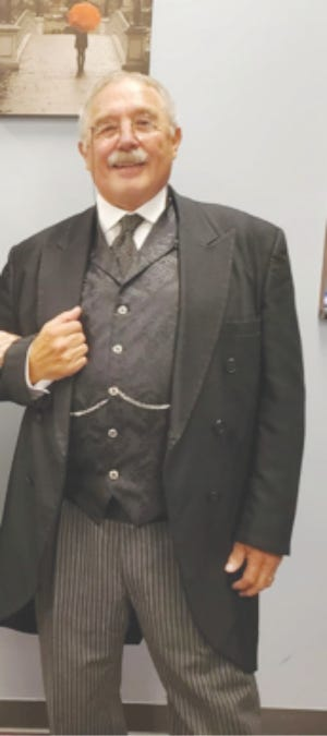Gib Young of Huntington portrays President Teddy Roosevelt at a joint meeting of NARFE at the Mixing Bowl in Bedford.