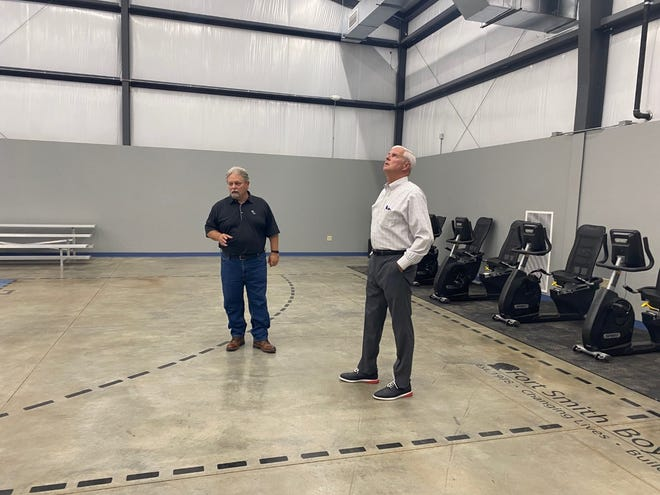 U.S Rep. Steve Womack tours the new recreation center at the Fort Smith Boys Home.
