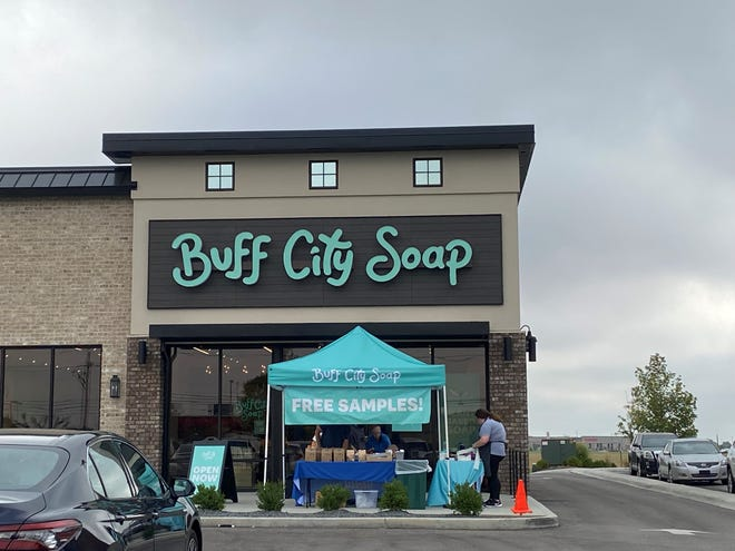 Buff City Soap opened Thursday on Hirschland Road, in The Promenade.