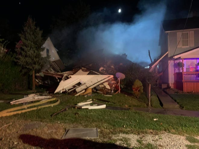 Marion City Fire Department responded to a reported house explosion on the 800 block of Congress Street in Marion Township Wednesday night, that left one Marion man hospitalized in serious condition, according to a report from the department.