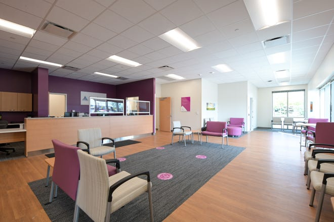 A view of the lobby at the new Ascension Wisconsin Hospital at 4935 S. 76th St. in Greenfield.