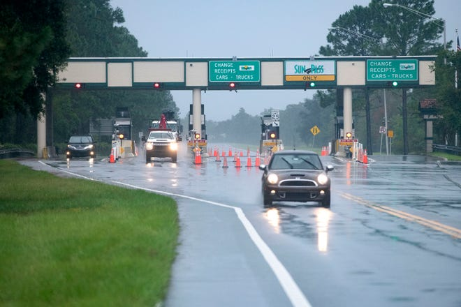 Despite Gov. Ron DeSantis's announcement in late July he was permanently lowering the toll to use the Garcon Point Bridge, motorists are still paying the $5.00 fee to cross the bridge on Wednesday, Sept. 15, 2021.