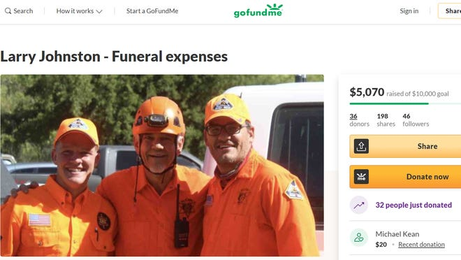 A GoFundMe was created to assist the family of Tonto Rim Search and Rescuer Larry Johnston with funeral expenses.