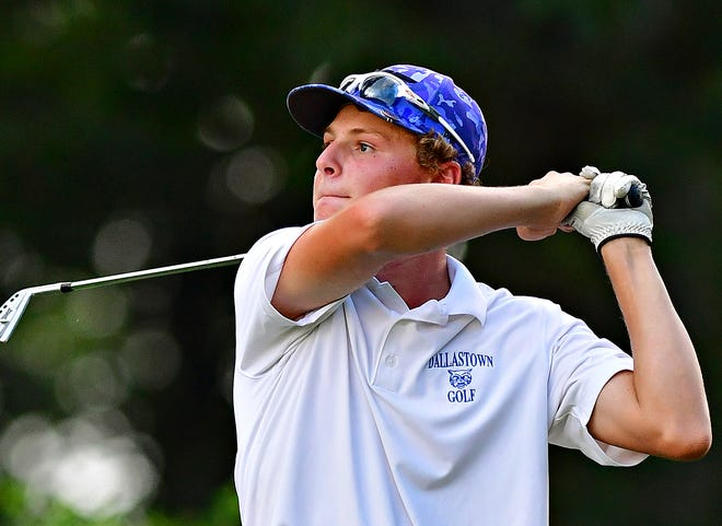 Dallastown's Lane Krosse, seen here in a file photo, fired a 70 for the Wildcats during the York-Adams League Team Golf Championship at Briarwood Golf Club.
