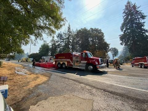 Lyons firefighters and multiple agencies are responding to a residential fire prompting the closure of Lyons-Mill City Drive in Linn County.