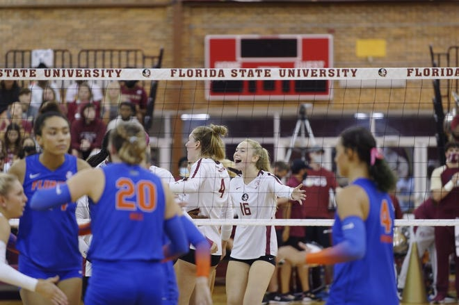 FSU volleyball (7-2) overcame a difficult rival in No. 14 UF (4-4) on Wednesday night in front of what was by far the largest attendance of the year at Tully Gym.