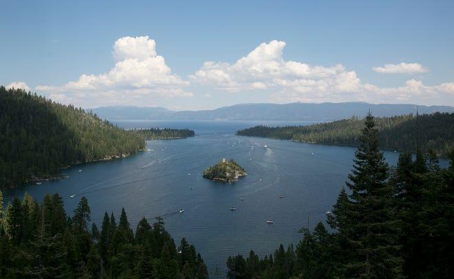 Emerald Bay of Lake Tahoe, near South Lake Tahoe, Calif.