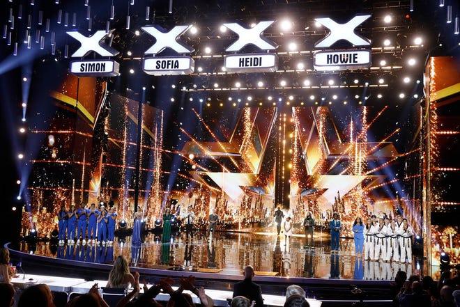 "(l-r) Northwell Nurse Choir, Lea Kyle, Brooke Simpson, Dustin Tavella, Aidan Bryant, Terry Crews, Victory Brinker, Josh Blue, Jimmie Herrod, Gina Brillon, World Taekwondo Demo Team on the finale of ""America's Got Talent."""