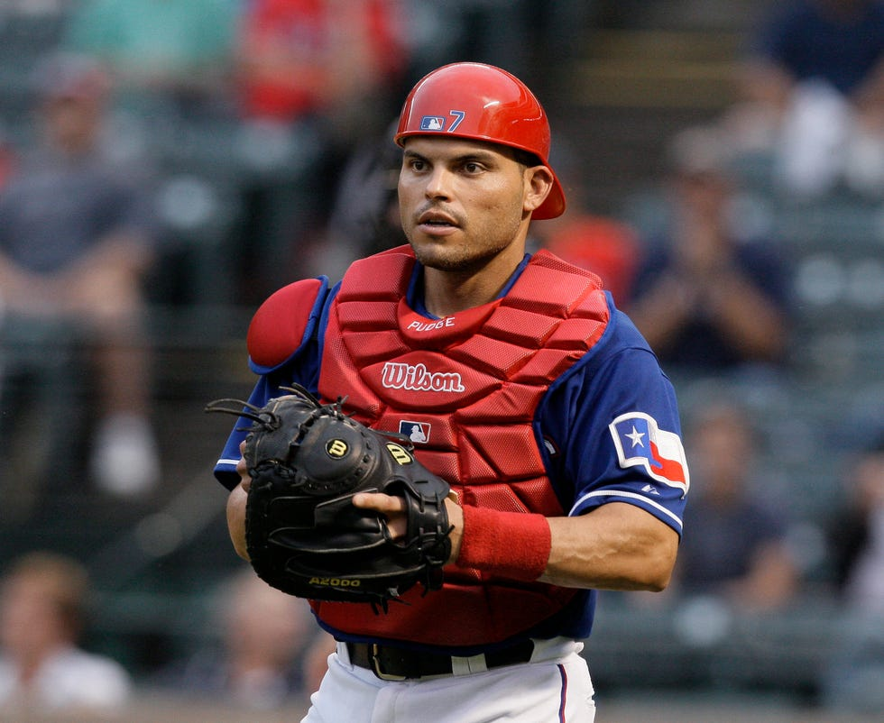 Ivan Rodriguez won 13 Gold Gloves as a catcher and was a 14-time All-Star.