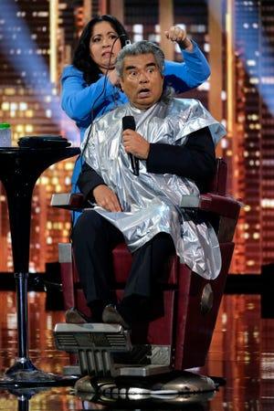 "(l-r) George Lopez and Gina Brillon on the ""America's Got Talent"" finale."