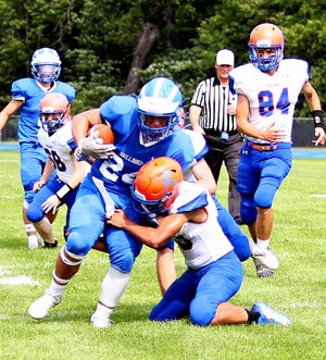 Inland Lakes sophomore running back Grant Blumke has been named the Daily Tribune's Athlete of the Week after rushing for 227 yards and scoring three touchdowns for Inland Lakes in a victory over Central Lake on Saturday, Sept. 11.