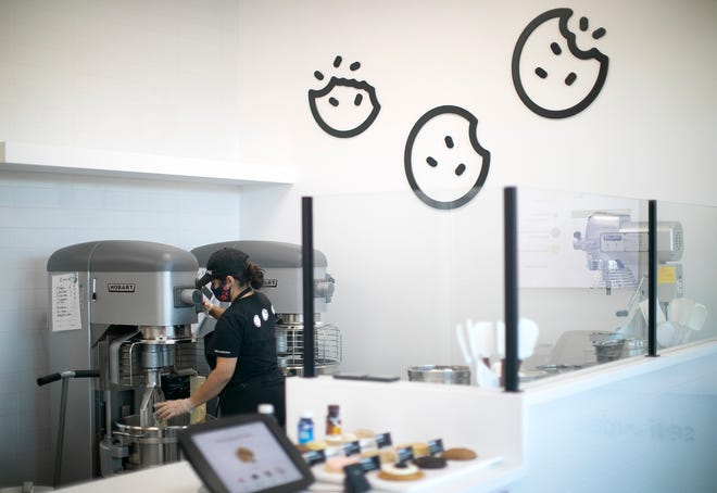 Crumbl Cookies, a cookie chain with a viral TikTok marketing campaign opened two new Columbus-area stores, including this one in Westerville.