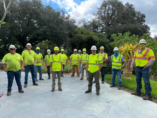 Houmas House in Ascension Parish has been hosting workers who have been restoring electricity in south Louisiana after Hurricane Ida.