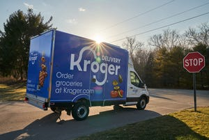 Kroger began grocery deliveries in Florida in June, covering an area from Sarasota to Cocoa and Jacksonville from a hub in Groveland and two spokes in Tampa and Jacksonville.