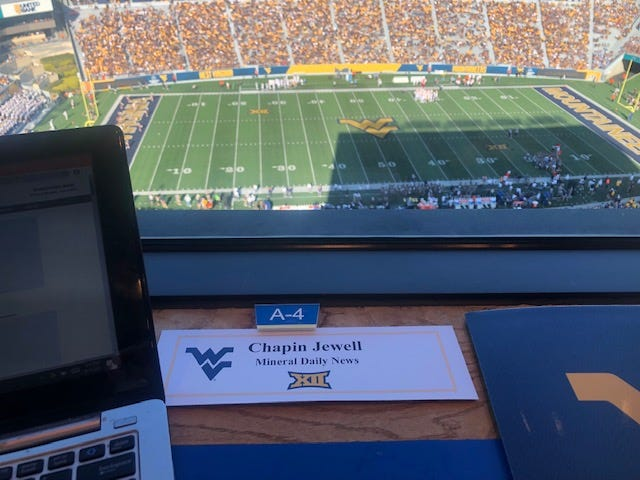 Chapin Jewell was on hand in College Park and Morgantown to cover the Mountaineers. There were low-lows and high-highs associated with both contests. Time will tell what emotions the Virginia Tech game will bring.