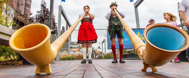 Oktoberfest in Lehigh Valley takes place at PNC Plaza in Bethlehem the first week October.