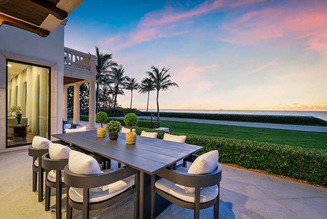 A Palm Beach mansion that sold for $32.13 million in April 2021 has access to a private tunnel that leads to the beach beneath South Ocean Boulevard.