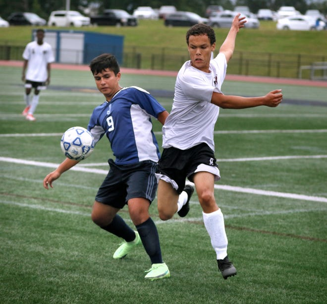 The Johnston Panthers boys soccer team plays host to the Villa Novans of Woonsocket on Thursday evening.  [The Providence Journal / Kris Craig]