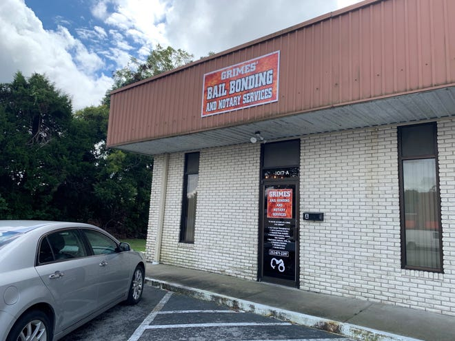 Micah Grimes owns Grime's Bail Bonding and Notary Services located downtown New Bern. He has been a bail bondsmen for about 12 years.