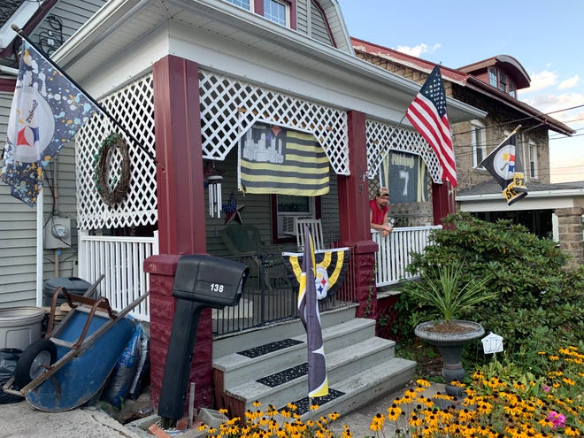"""Rich Lehman of Somerset, has been submitting his """"Steeler House"""" photos to the Daily American for 20 years. The house, located along Uhl Street in Somerset Borough, was built in 1914."""
