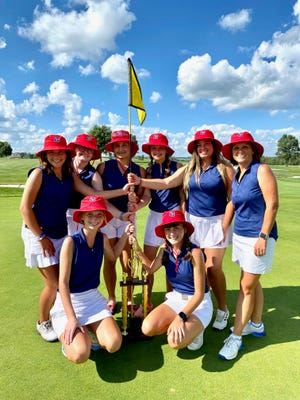 The Tusky Valley girls golf team won the Inter-Valley Conference Postseason Tournament on Friday.