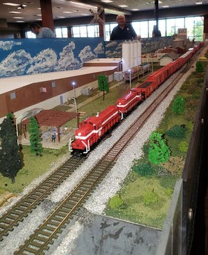 Organizer Byron Callies has set up a model railroad display at Lake Area Technical College. In its third year, the display is sponsored bytheDakota Southeastern Division of the National Model Railroad Association. Itwill be open from 9 a.m. to 3 p.m. today on the fourth floor of the student union. There is no charge.