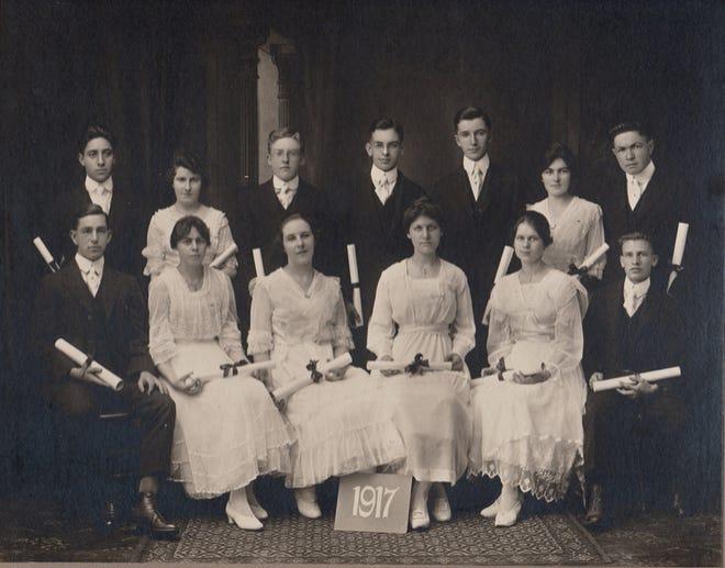 Graduation photo, class of 1917.